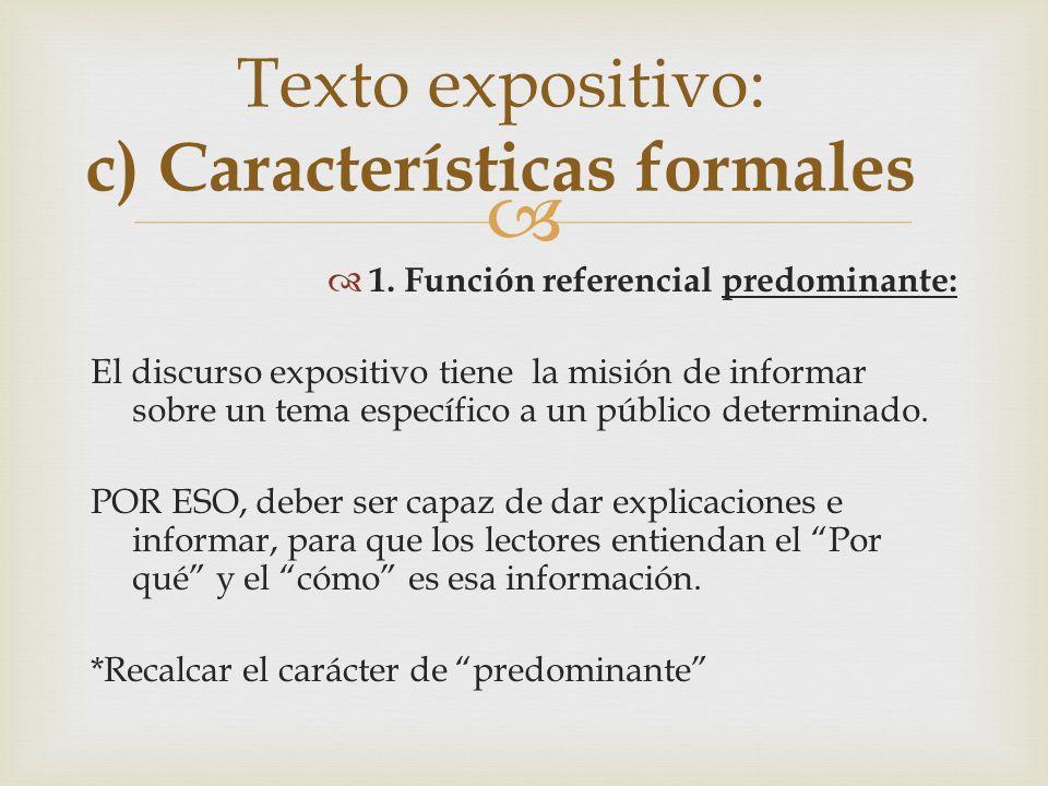 Reconoce la forma básica que predomina en los siguientes textos: 1.