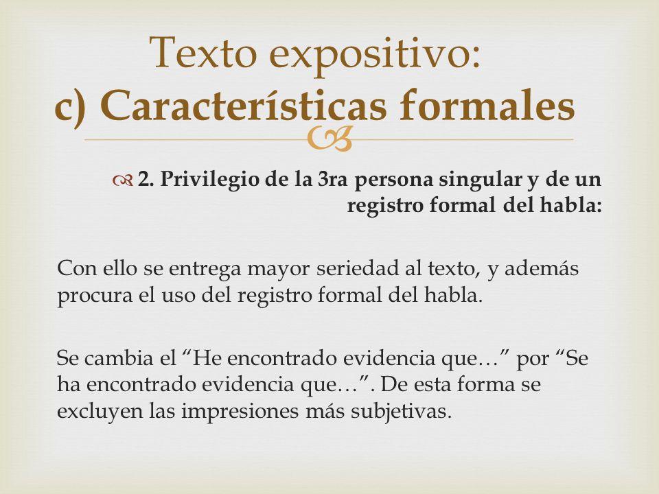 Reconoce la forma básica que predomina en los siguientes textos: 2.