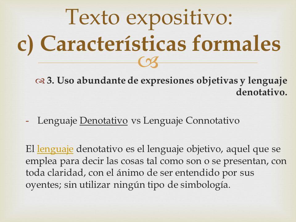 Conteste las siguientes preguntas: no ¿Qué expresiones no deben usarse en un texto expositivo.