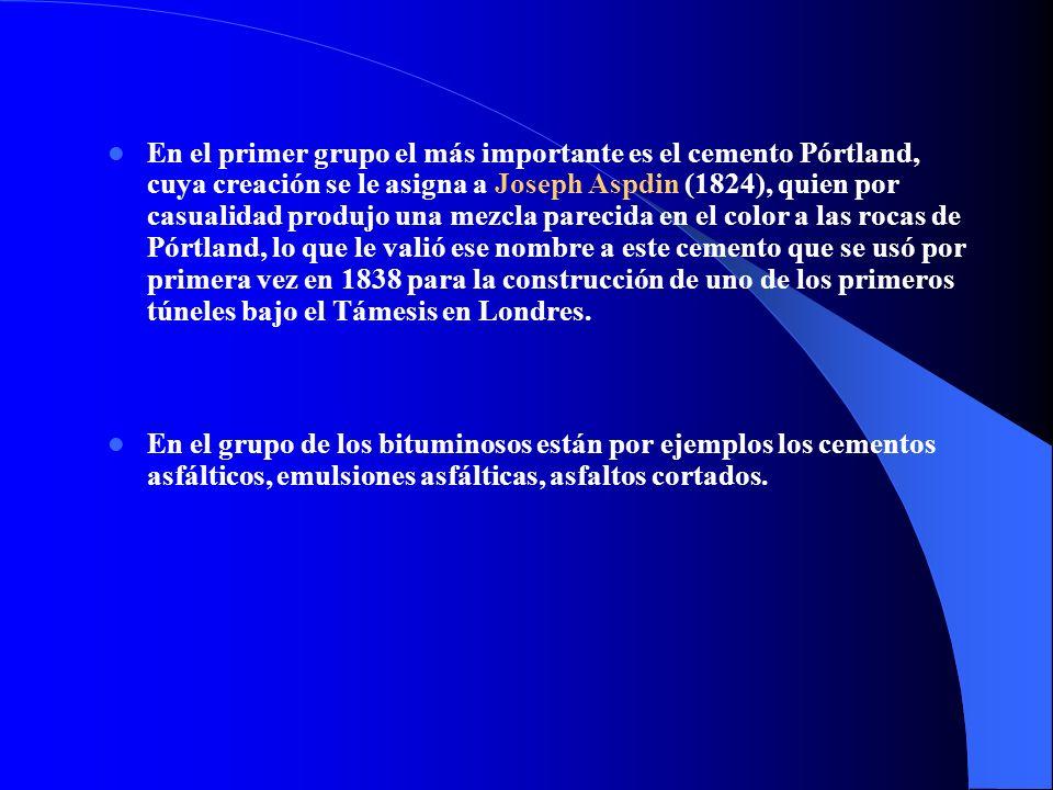 propiedades de un cemento Portland, conocida su composición mineralógica.