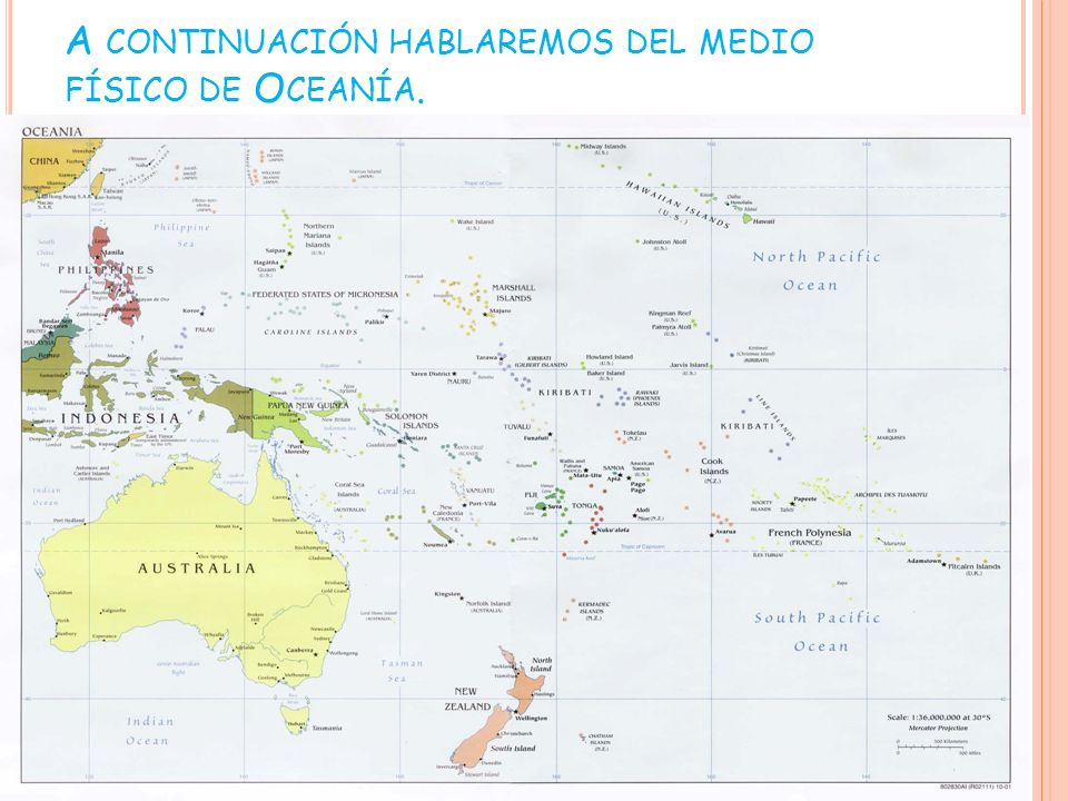 ISLAS Oceanía tiene varias islas entre las que destacan: Australia Nueva Zelanda Papúa Nueva Guinea Fidji Marianas Tasmania