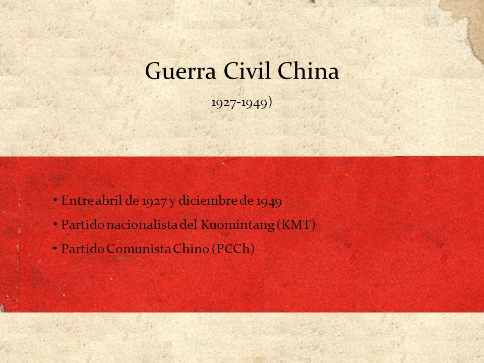 La Larga Marcha (1934-1935) Comunistas (más de 86 000 hombres) Entre 6 000 y 10 000 km en 370 días Condiciones desfavorables (sólo 8 000 hombres, llegaron a la provincia de Shaanxi en 1935) Refugio de Yenan, centro del Soviet de Baoan (en Shaanxi) Mao Zedong: Reunión de Zunyi 28.000 hombres masacrados en Ruijin el 10 de noviembre.