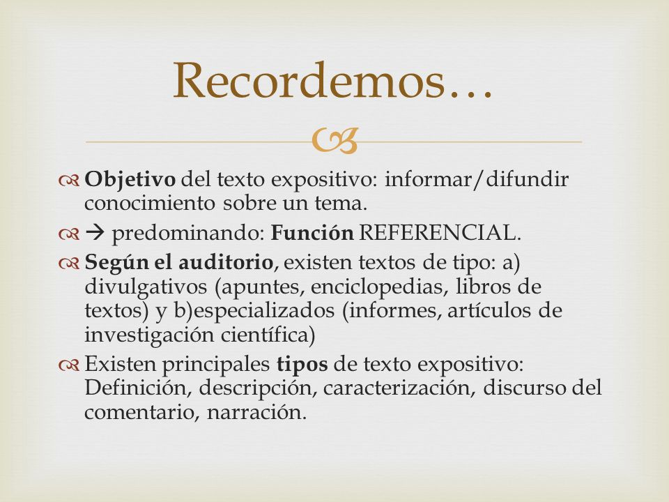 Los contenidos en los textos expositivos, se ordenan según distintos modelos organizativos: A)Secuencia Temporal B)Relación Causal C)Comparación D)Problema-Solución E)Enumeración Descriptiva ¿Cómo se organizan los texto expositivos?