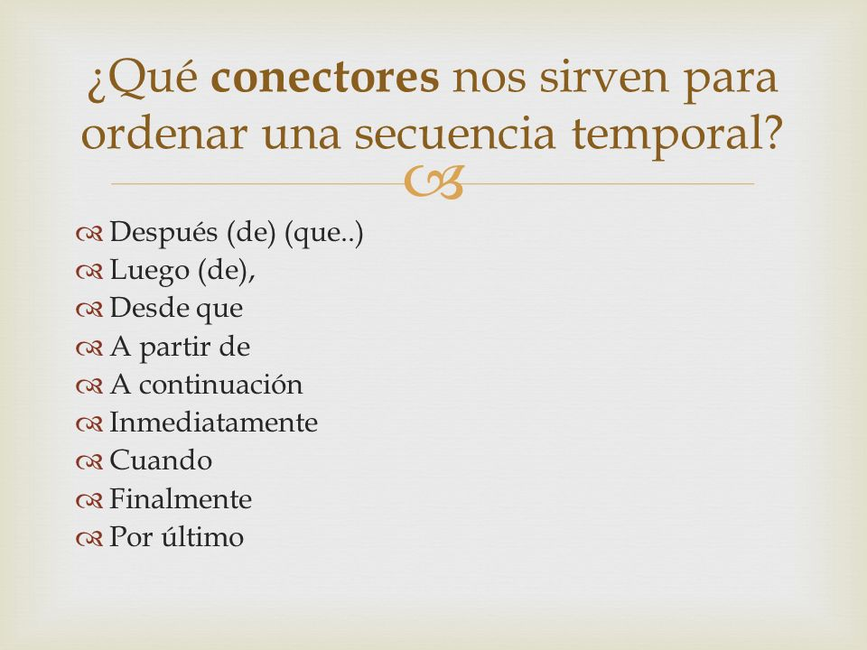 Ejemplos: A) Secuencia Temporal