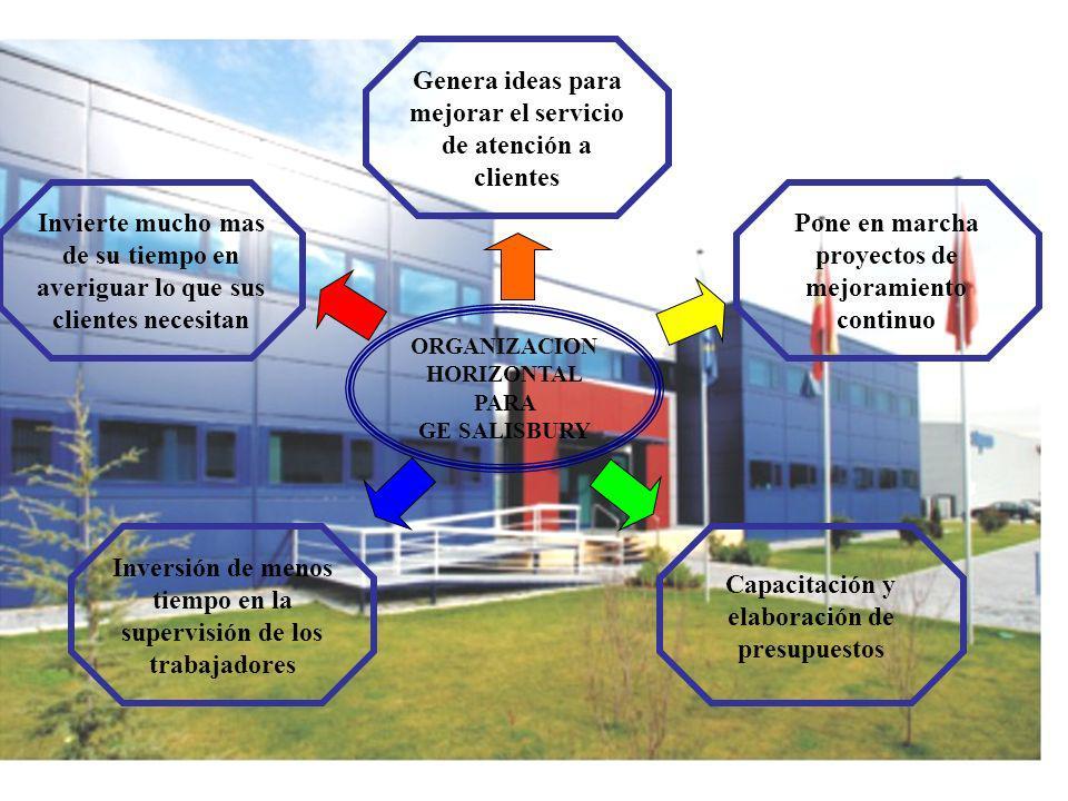 04/02/2014 07:19 a.m.Universidad de las Ciencias y el Arte de Costa Rica 16 ORGANIZACION HORIZONTAL PARA GE SALISBURY Invierte mucho mas de su tiempo