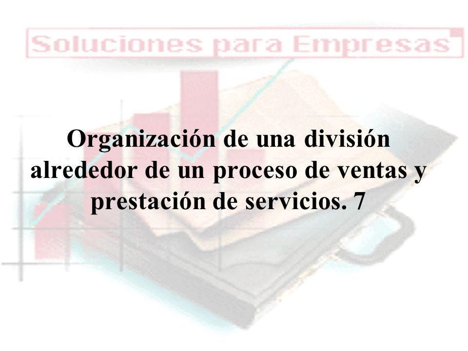04/02/2014 07:19 a.m.Universidad de las Ciencias y el Arte de Costa Rica 20 Organización de una división alrededor de un proceso de ventas y prestació