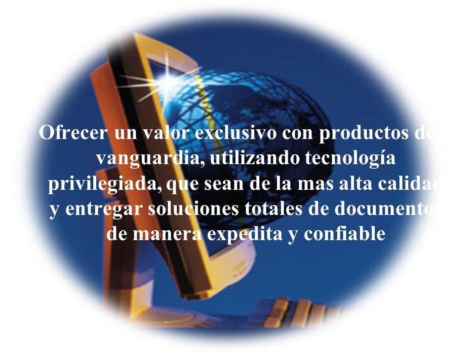 04/02/2014 07:19 a.m.Universidad de las Ciencias y el Arte de Costa Rica 37 Ofrecer un valor exclusivo con productos de vanguardia, utilizando tecnolo