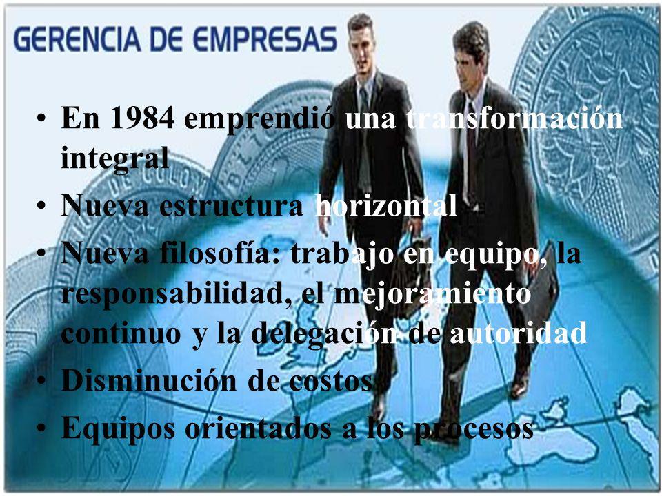 04/02/2014 07:19 a.m.Universidad de las Ciencias y el Arte de Costa Rica 5 En 1984 emprendió una transformación integral Nueva estructura horizontal N