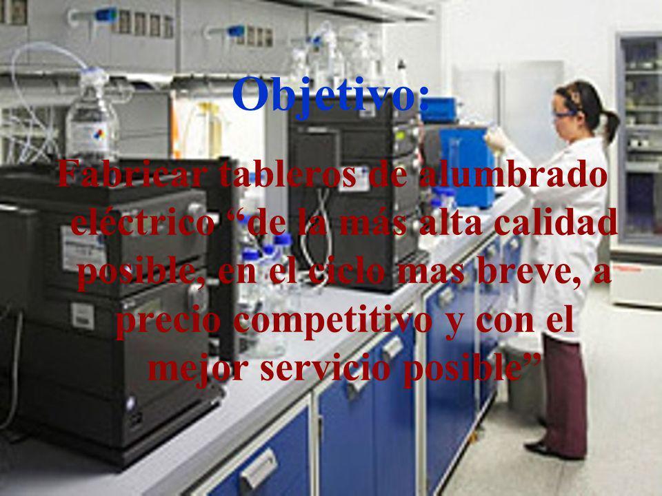 04/02/2014 07:19 a.m.Universidad de las Ciencias y el Arte de Costa Rica 7 Objetivo: Fabricar tableros de alumbrado eléctrico de la más alta calidad p