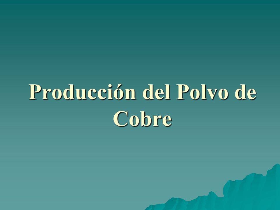 PROCESO DE FUNDICIÓN: DEL MINERAL AL COBRE EN POLVO El concentrado sufre un proceso de fusión.