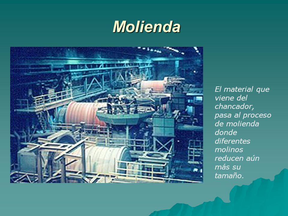 Segunda etapa: extracción por solvente (SX) En esta etapa la solución que viene de las pilas de lixiviación, se libera de impurezas y se concentra su contenido de cobre, pasando de 9gpl a 45 gpl, mediante una extracción iónica.