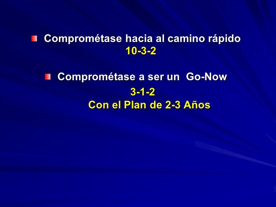 Comprométase hacia al camino rápido Comprométase hacia al camino rápido10-3-2 Comprométase a ser un Go-Now Comprométase a ser un Go-Now3-1-2 Con el Plan de 2-3 Años