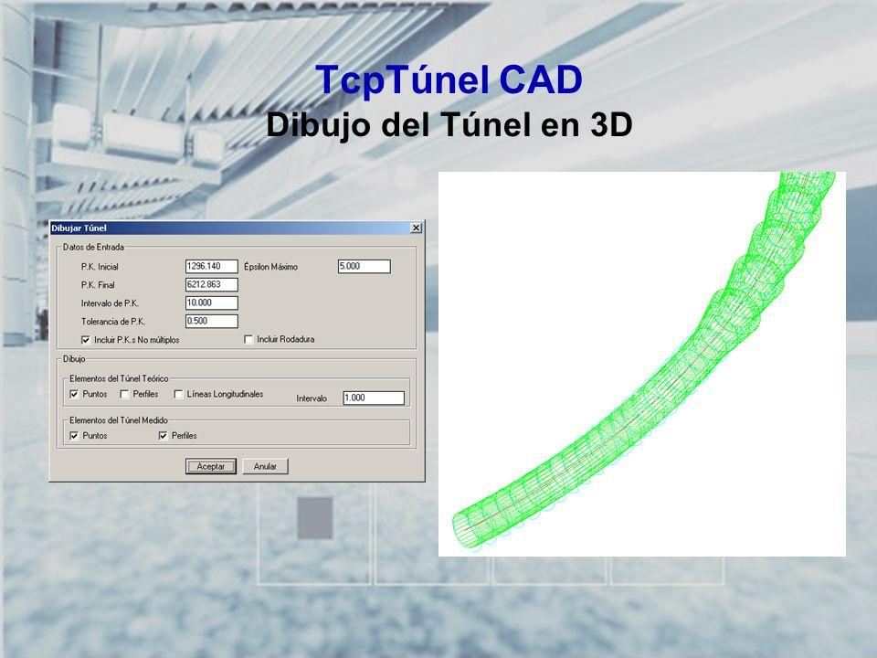 TCP-TÚNEL – Replanteo y Toma de Datos en Túneles TcpTúnel CAD Dibujo del Túnel en 3D
