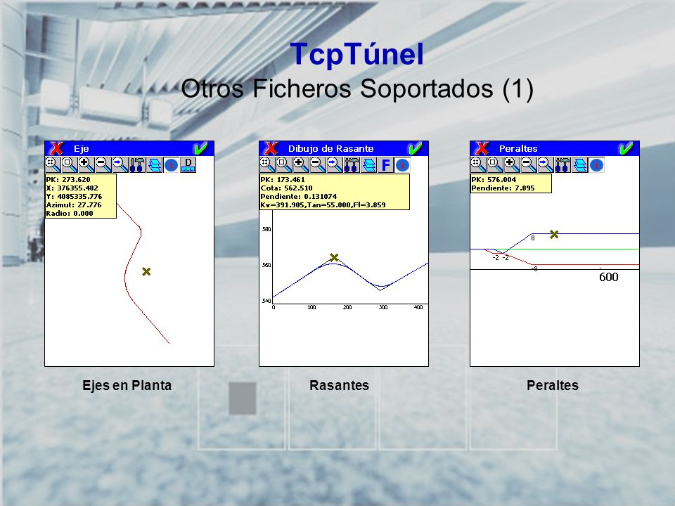 TCP-TÚNEL – Replanteo y Toma de Datos en Túneles TcpTúnel Herramientas