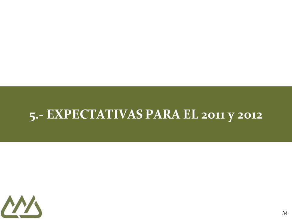34 5.- EXPECTATIVAS PARA EL 2011 y 2012