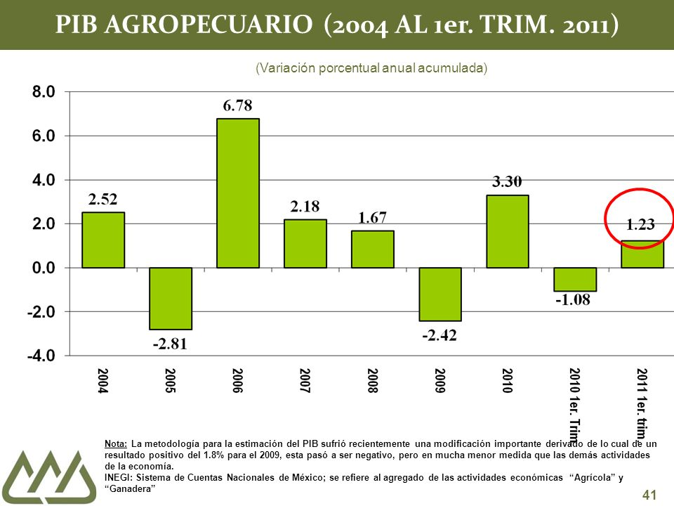 41 PIB AGROPECUARIO (2004 AL 1er. TRIM.