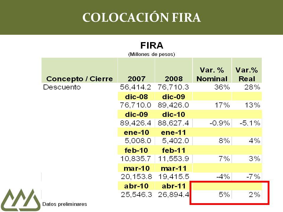 COLOCACIÓN FIRA