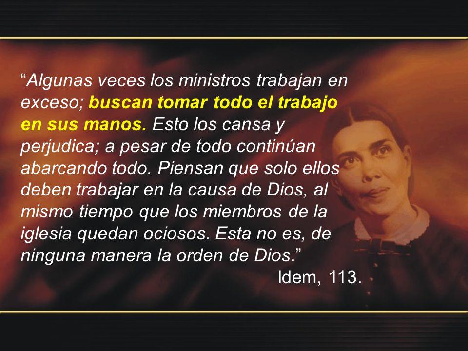 Dios no ha dado a sus ministros la obra de arreglar las iglesias.