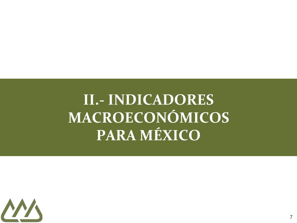 48 III. INDICADORES SECTORIALES PARA MÉXICO