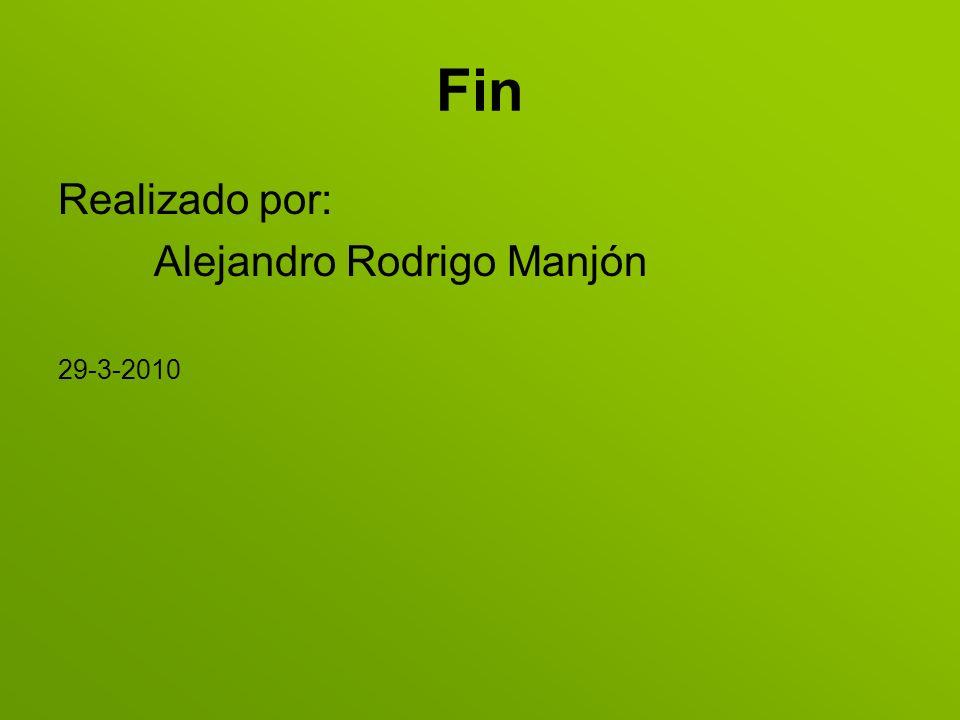Fin Realizado por: Alejandro Rodrigo Manjón 29-3-2010