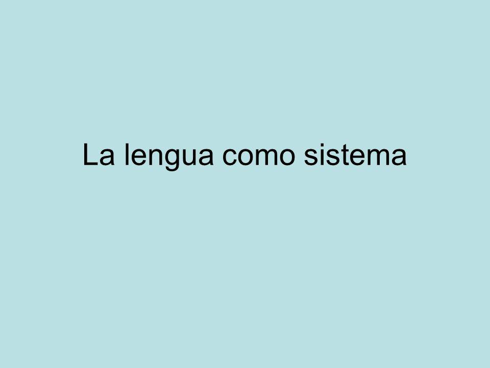 La lengua como sistema