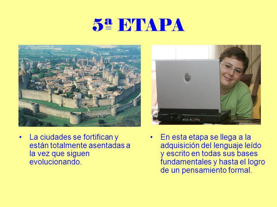 6ª ETAPA En esta fase el lenguaje esta adquirido completamente y solo falta la experiencia.