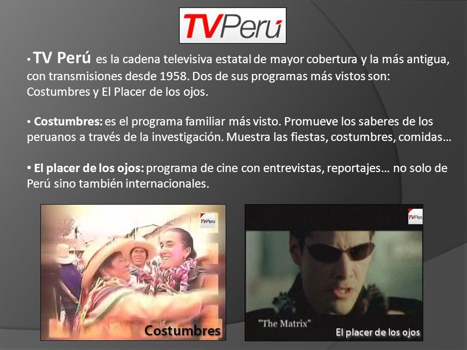 ATV es una cadena de televisión peruana con transmisiones regulares desde 1983.