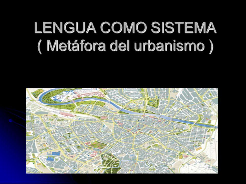 LENGUA COMO SISTEMA ( Metáfora del urbanismo )
