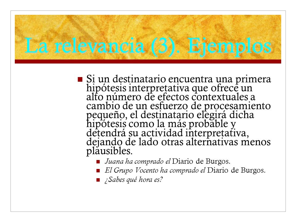 La relevancia (3).