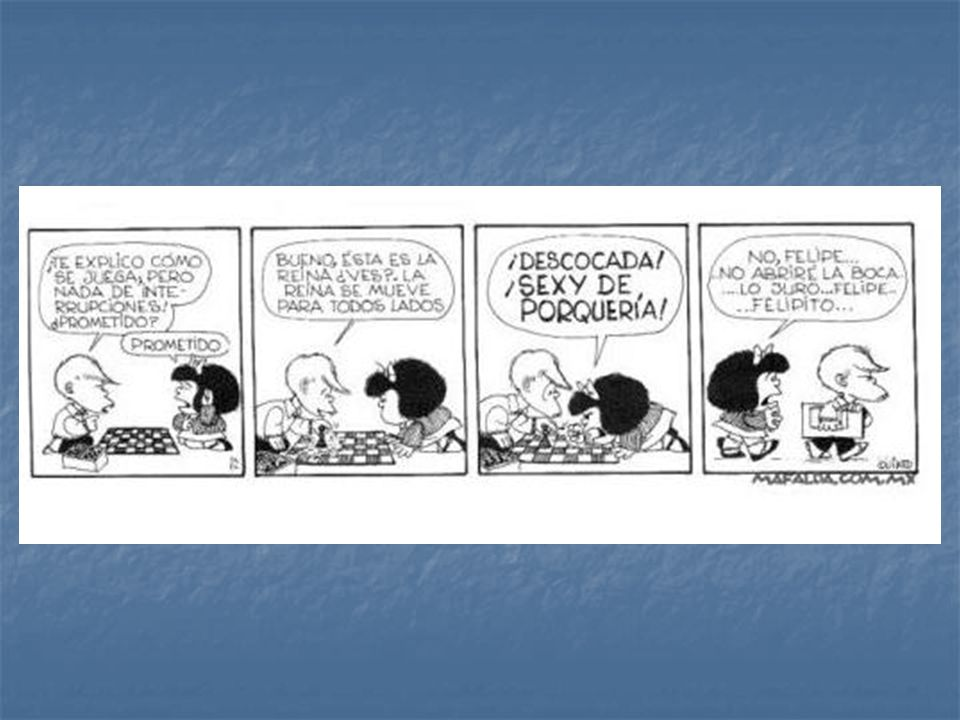 En esta tira cómica de Quino, se puede ver un claro ejemplo de presuposiciones e implicaturas.