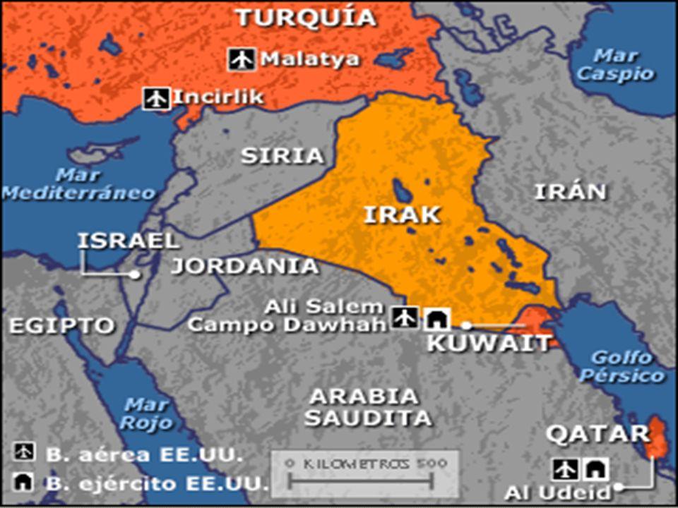 La Guerra del Golfo se divide en tres etapas: 1. Operación Escudo del Desierto 2. Operación Tormenta del Desierto 3. Operación Sable del Desierto