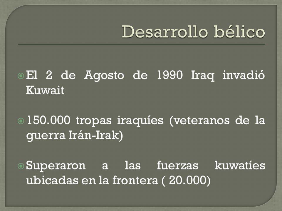 Las relaciones entre Irán-Irak (1980-1988) Kuwait ayudó económicamente a Irak Irak pidió que se le perdonara la deuda y que se cooperara con mas diner