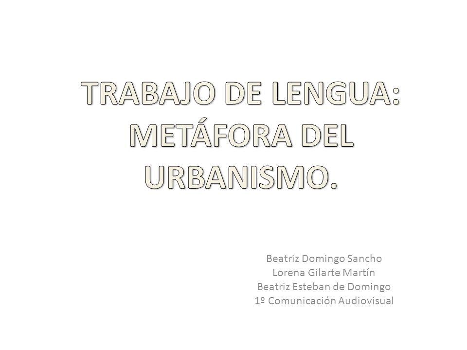 En este trabajo presentamos la metáfora del urbanismo mostrando la comparación del sistema lingüístico español con el sistema lingüístico inglés mediante un plano irregular y un plano ortogonal respectivamente.