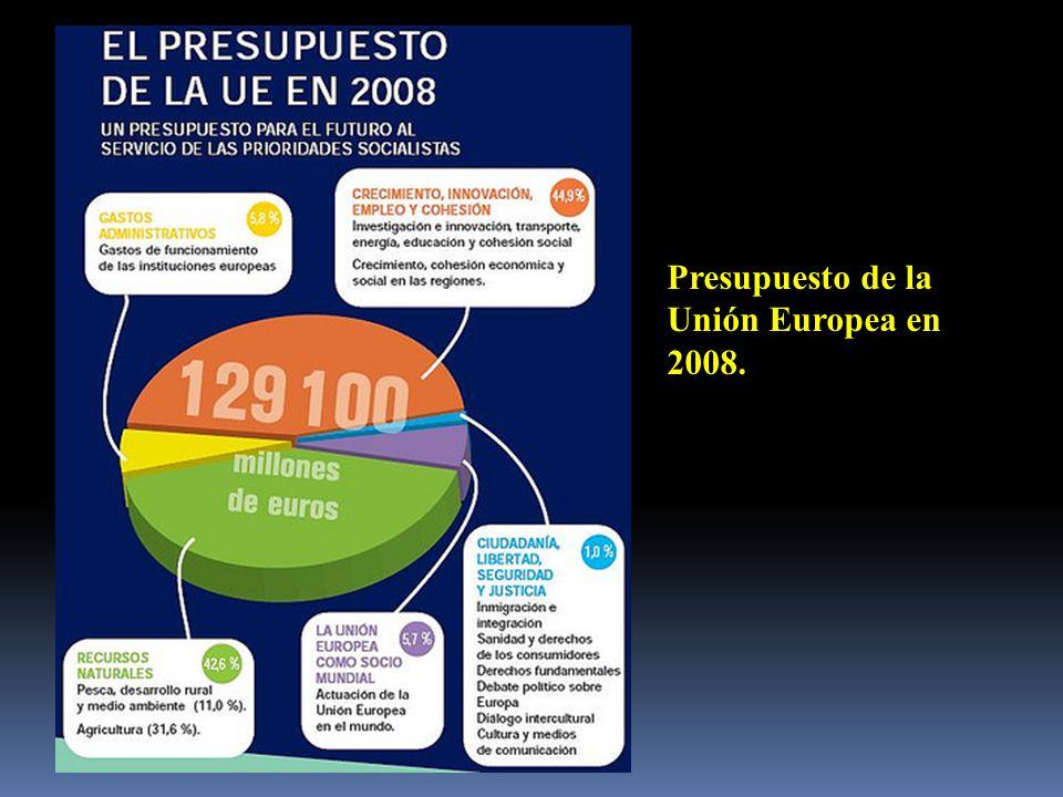 Presupuesto de la Unión Europea en 2008.