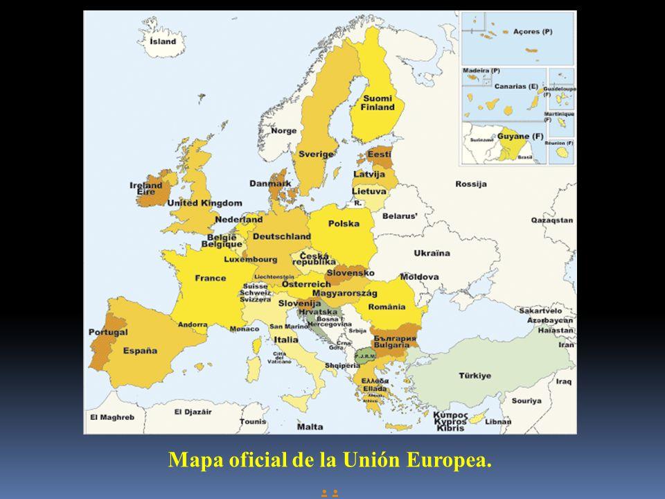 Mapa oficial de la Unión Europea..