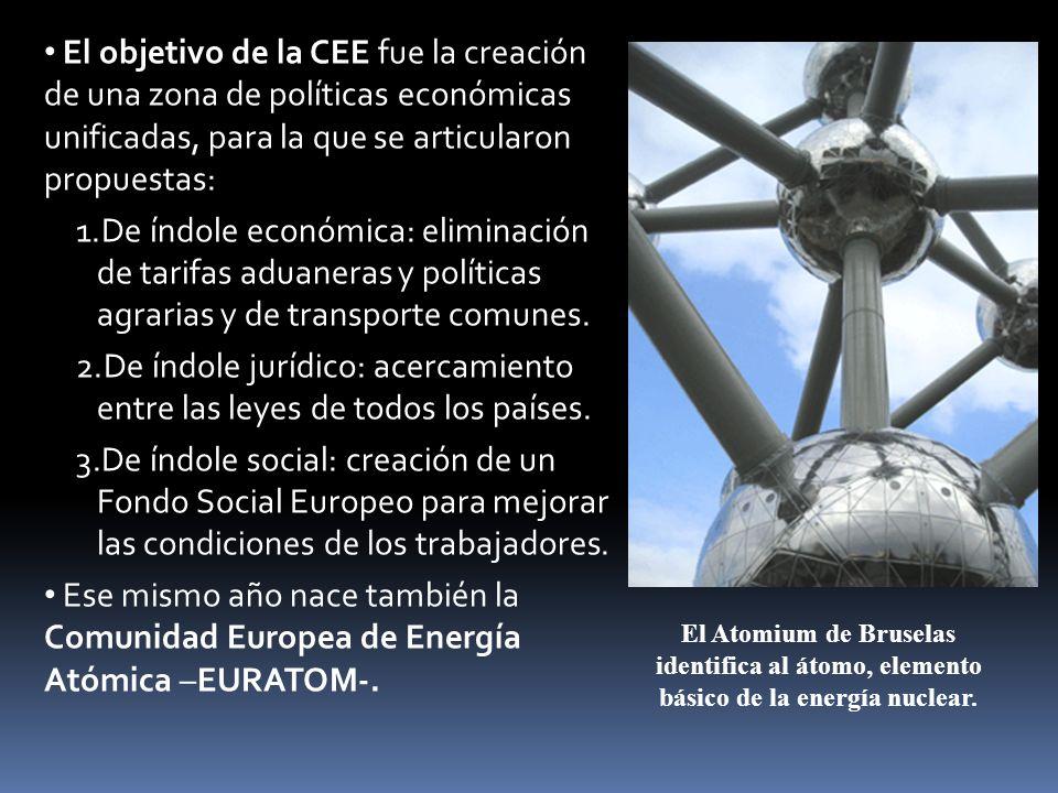 El objetivo de la CEE fue la creación de una zona de políticas económicas unificadas, para la que se articularon propuestas: 1.De índole económica: el