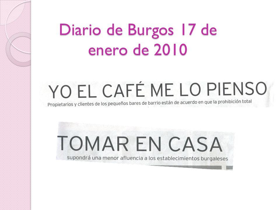 Diario de Burgos 17 de enero de 2010