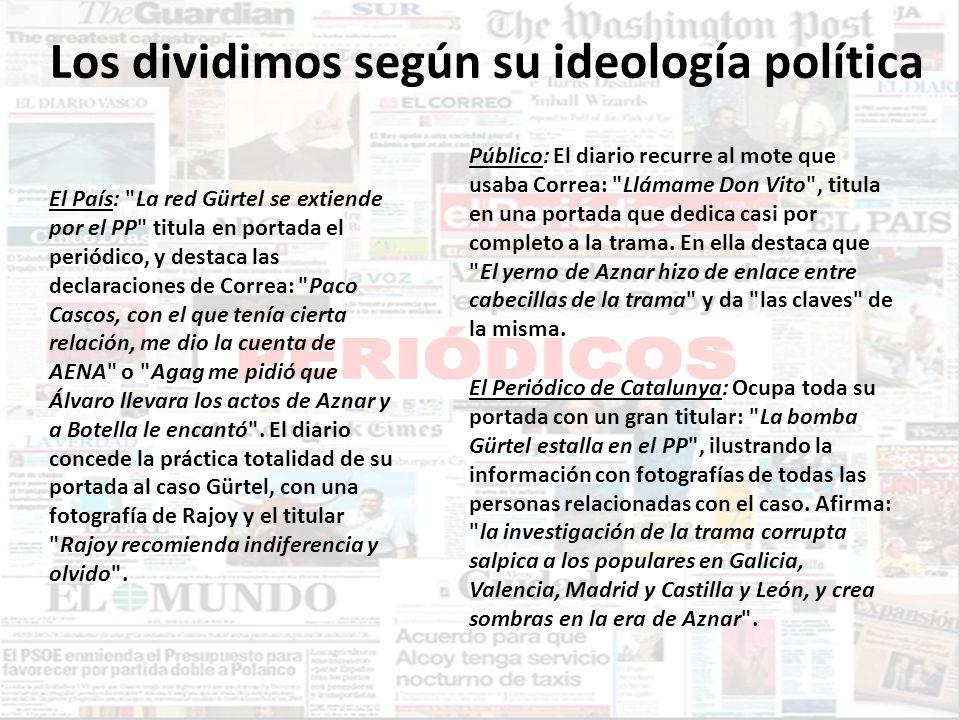 Los dividimos según su ideología política El País: