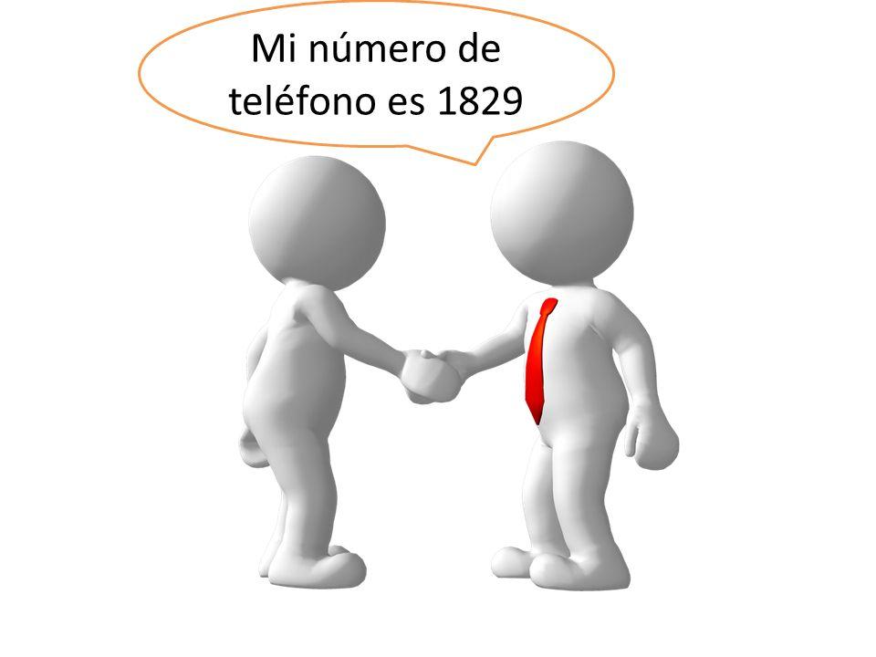 Mi número de teléfono es 1829