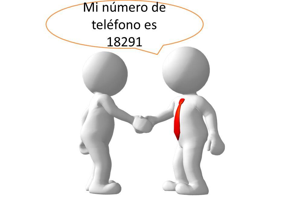 Mi número de teléfono es 18291