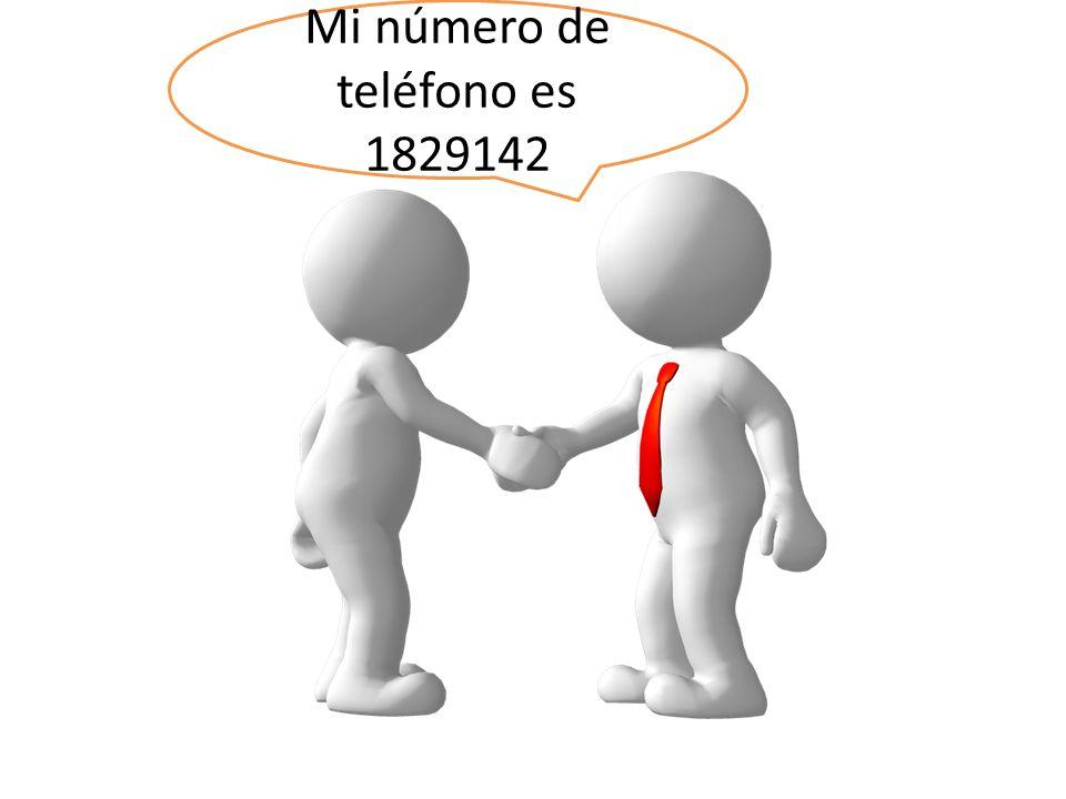 Mi número de teléfono es 1829142