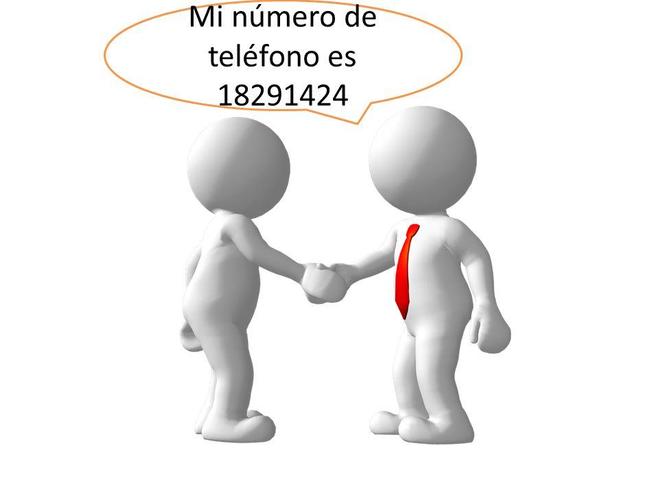 Mi número de teléfono es 18291424