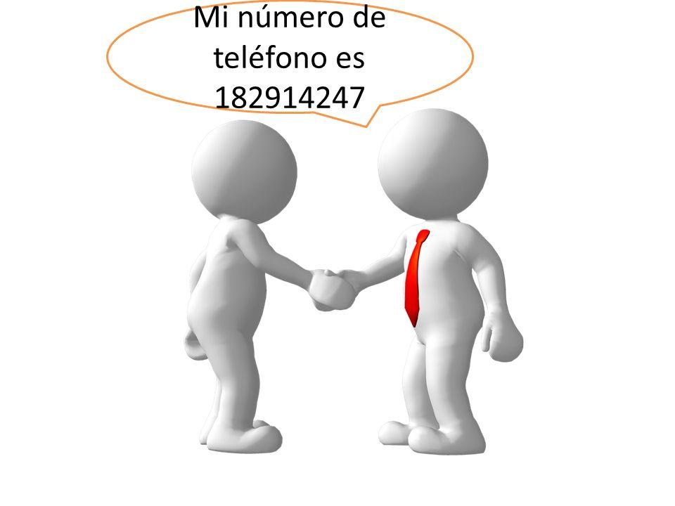 Mi número de teléfono es 182914247