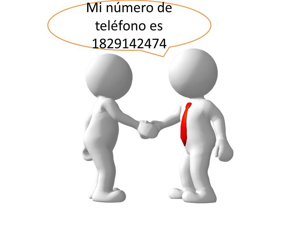 Mi número de teléfono es 1829142474