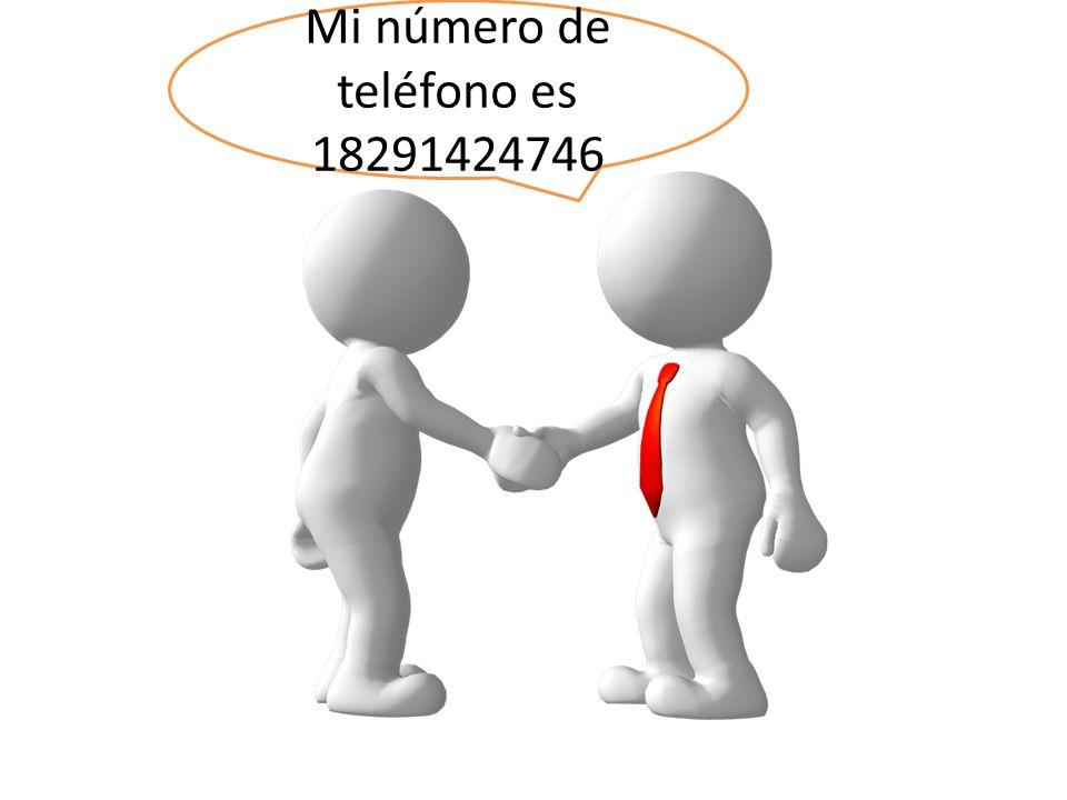 Mi número de teléfono es 18291424746