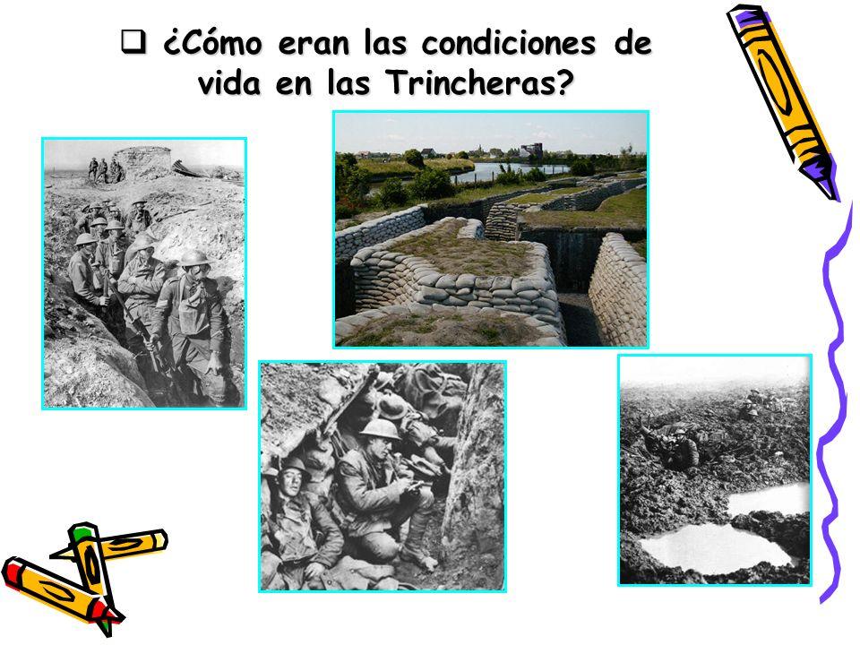¿Cómo eran las condiciones de vida en las Trincheras? ¿Cómo eran las condiciones de vida en las Trincheras?