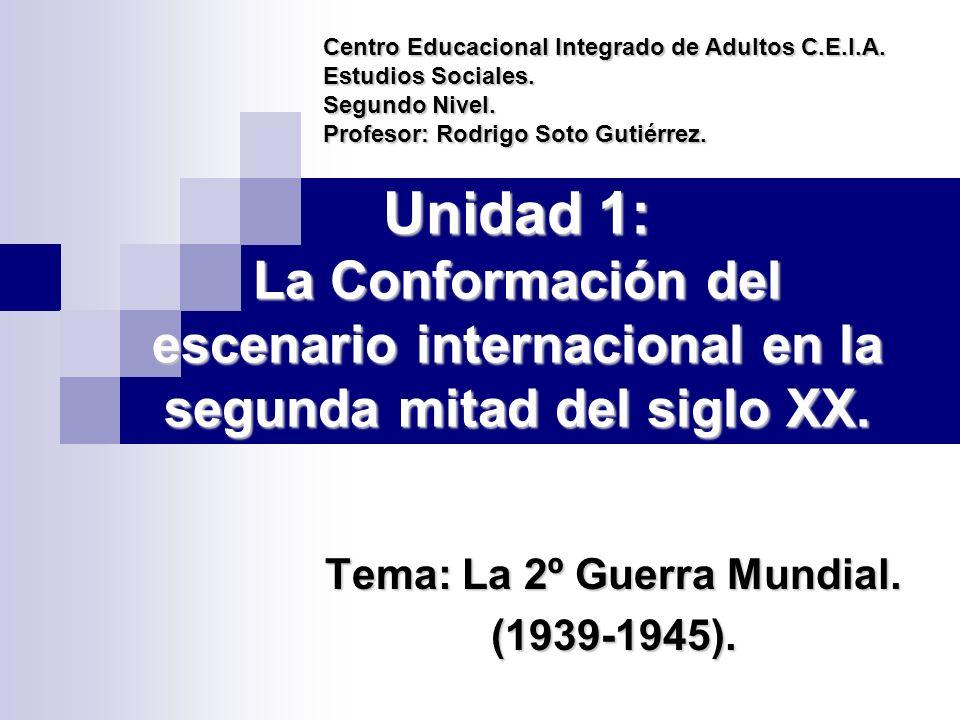Unidad 1: La Conformación del escenario internacional en la segunda mitad del siglo XX.
