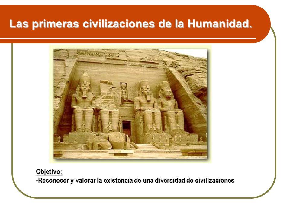 Objetivo: Reconocer y valorar la existencia de una diversidad de civilizaciones Reconocer y valorar la existencia de una diversidad de civilizaciones