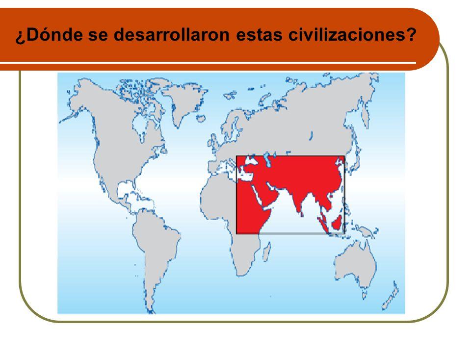¿Dónde se desarrollaron estas civilizaciones?