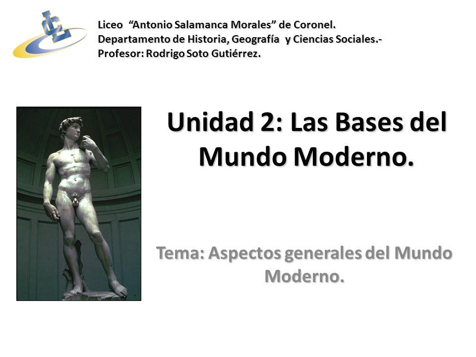 Unidad 2: Las Bases del Mundo Moderno.Tema: Aspectos generales del Mundo Moderno.